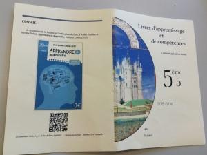 Livre de Giordan avec QRcode sur Livret élève