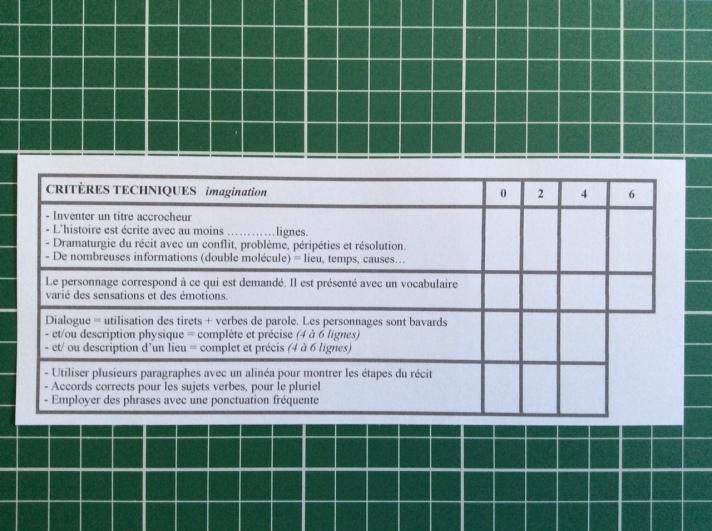 Critères d'évaluation et de notation